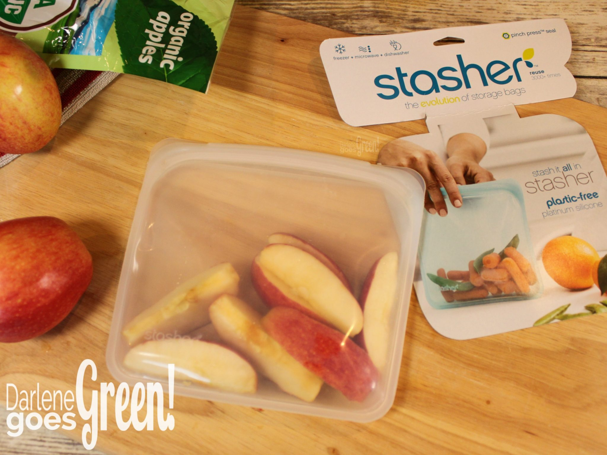 Stasher Bag Reusable and Eco-friendly Sandwich Bag Alternative