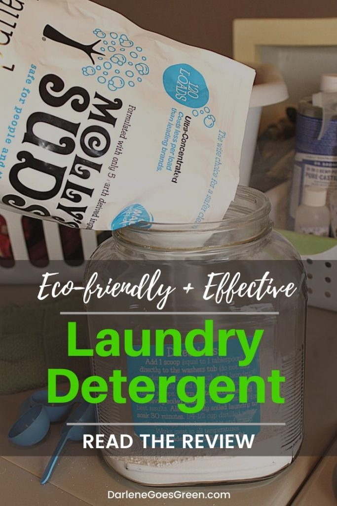 Molly's Suds Review Eco-friendly Green Laundry Detergent #DarleneGoesGreen #ecofriendly #zerowaste #nontoxic #laundry #gogreen
