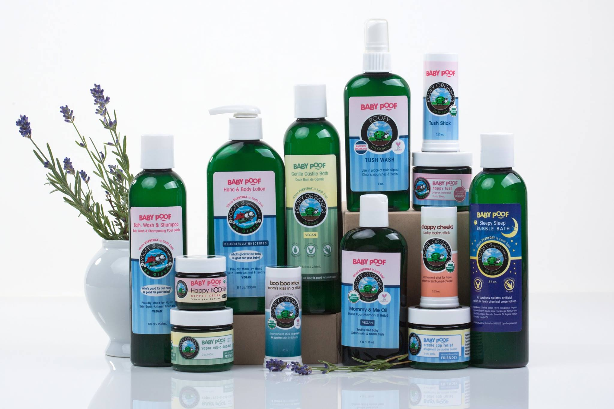 Poofy Organics Toxin-Free Home Bath and Body Baby Kid Child