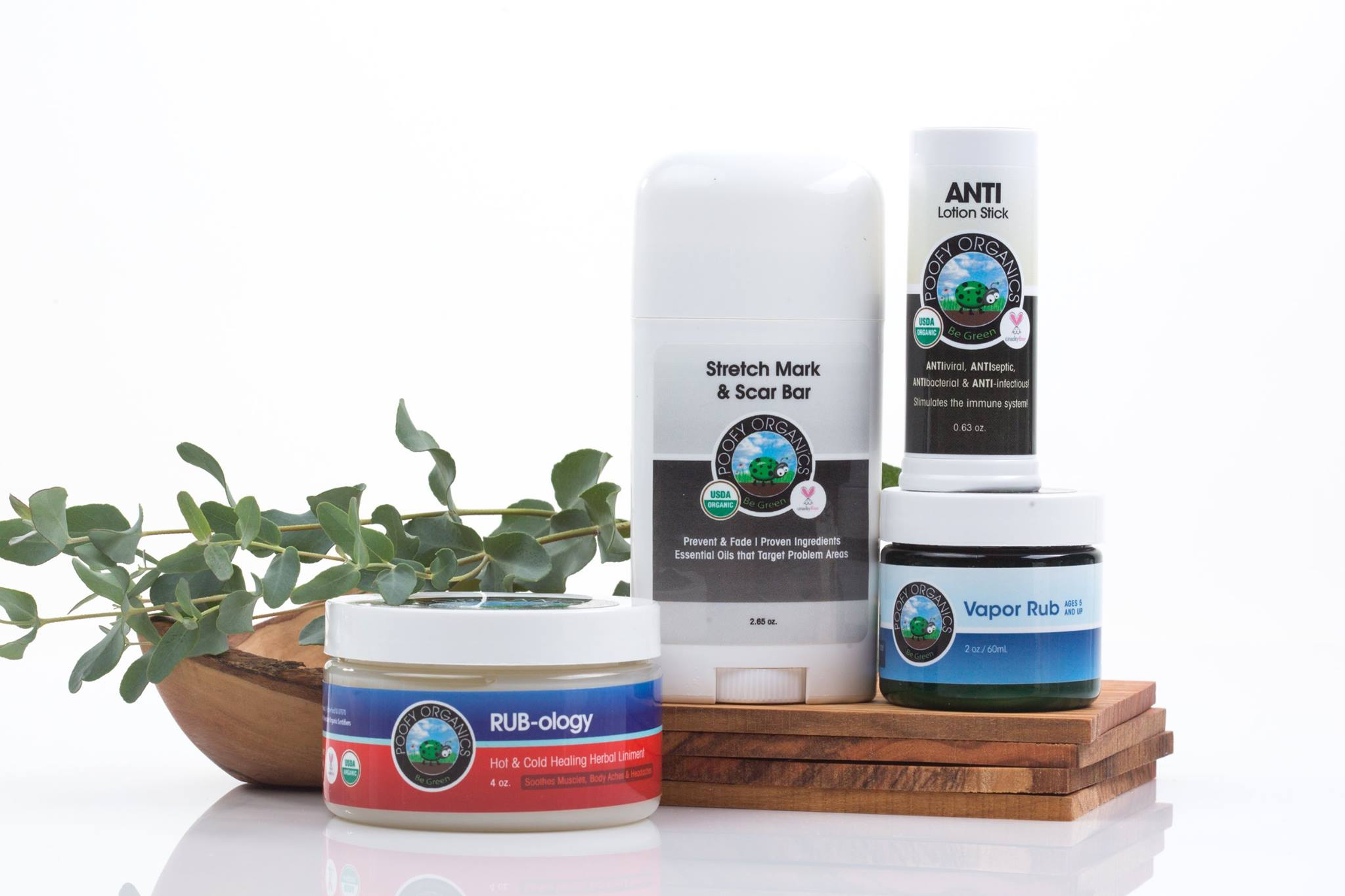 Poofy Organics Toxin-Free Home Bath and Body Remedies Ointments