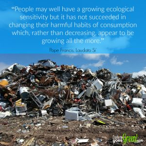 Pope Francis Harmful Consumption Habits