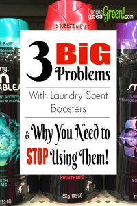 Do you know what's in your favorite laundry scent booster? I share my thoughts here https://darlenegoesgreen.com/3-big-problems-with-laundry-scent-boosters-why-you-need-to-stop-using-them/