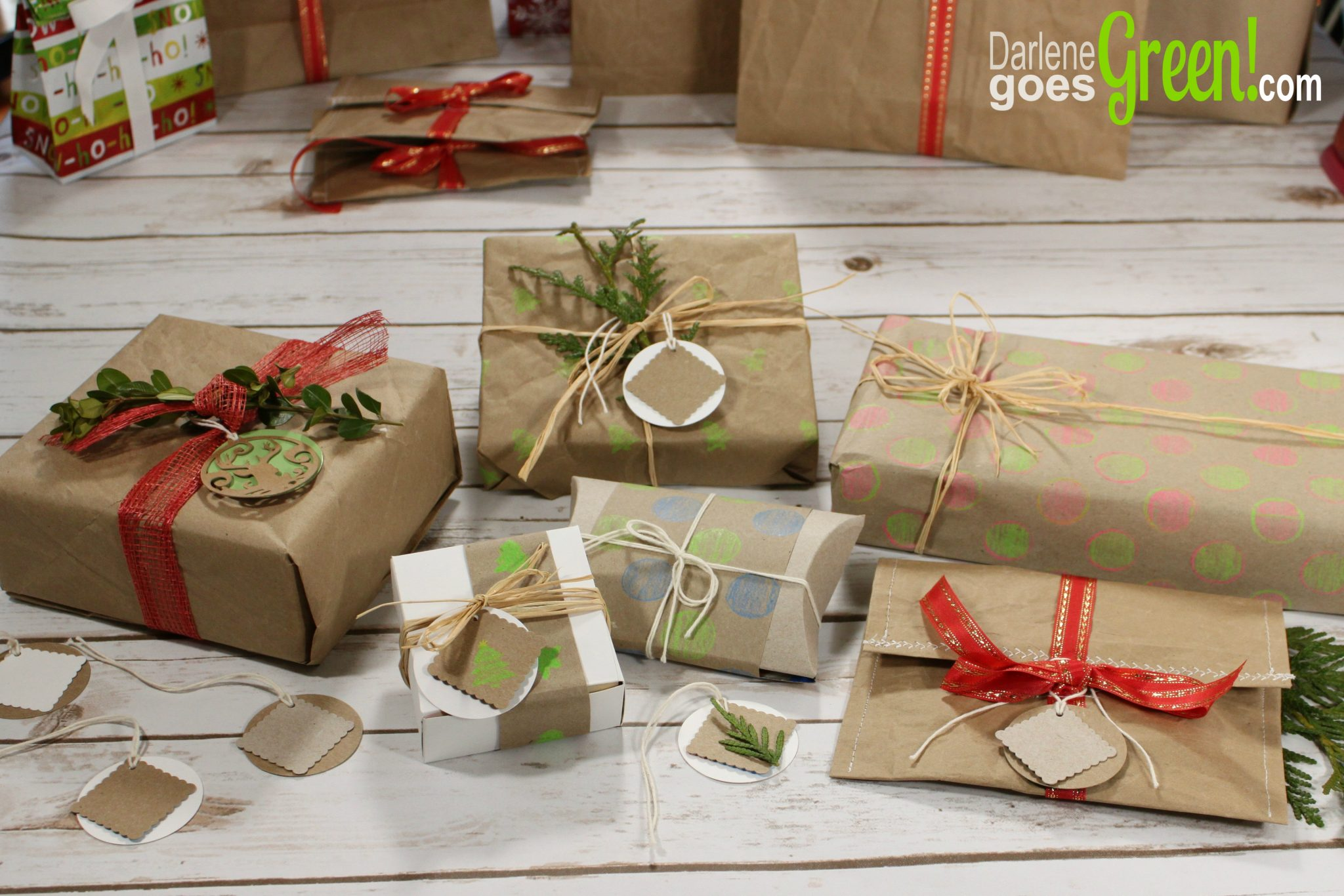 Easy And Beautiful Eco Friendly Gift Wrap Ideas Darlene Goes Green