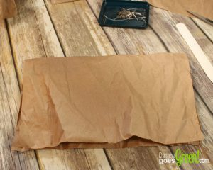 Easy Upcycled Gift Wrap from Kraft Paper