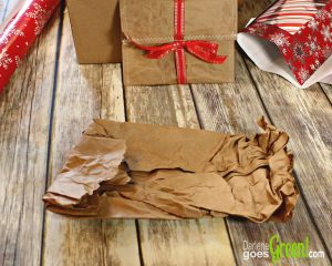 Easy Upcycled Gift Wrap from Kraft Packing Paper