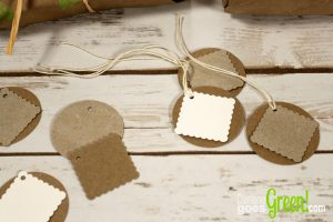 Upcycled Gift Tags from Chipboard