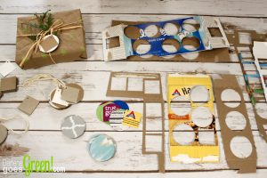 Upcycle from cereal and tissue boxes