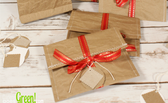 Eco-friendly Gift Wrap Sewn Paper Envelopes