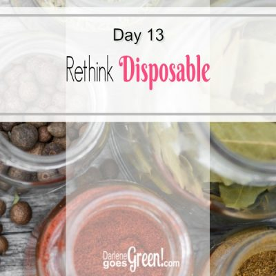 30 Day Challenge Day 13: Rethink Disposable