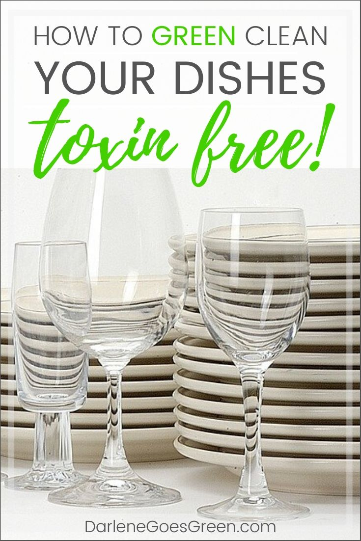 Hand washing dishes doesn't have to be a DIRTY job -- you can green clean your dishes TOXIN-FREE! Check out my review of green and natural dishwashing liquids to find out how. #darlenegoesgreen #christiangreenliving #toxinfree #greenclean #ecofriendly #review #green #ZeroWaste