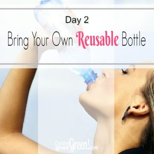 Go Green Bring Your Own Reusable Bottle
