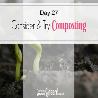 30 Day Challenge Day 27: Consider and Try Composting