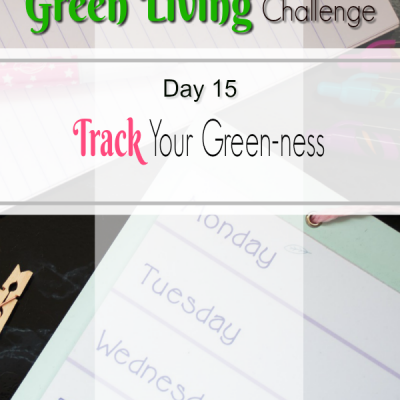 30 Day Challenge Day 29: Track Your Green-ness and Share the Green