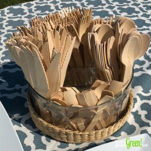 Wooden Forks Spoons Knives