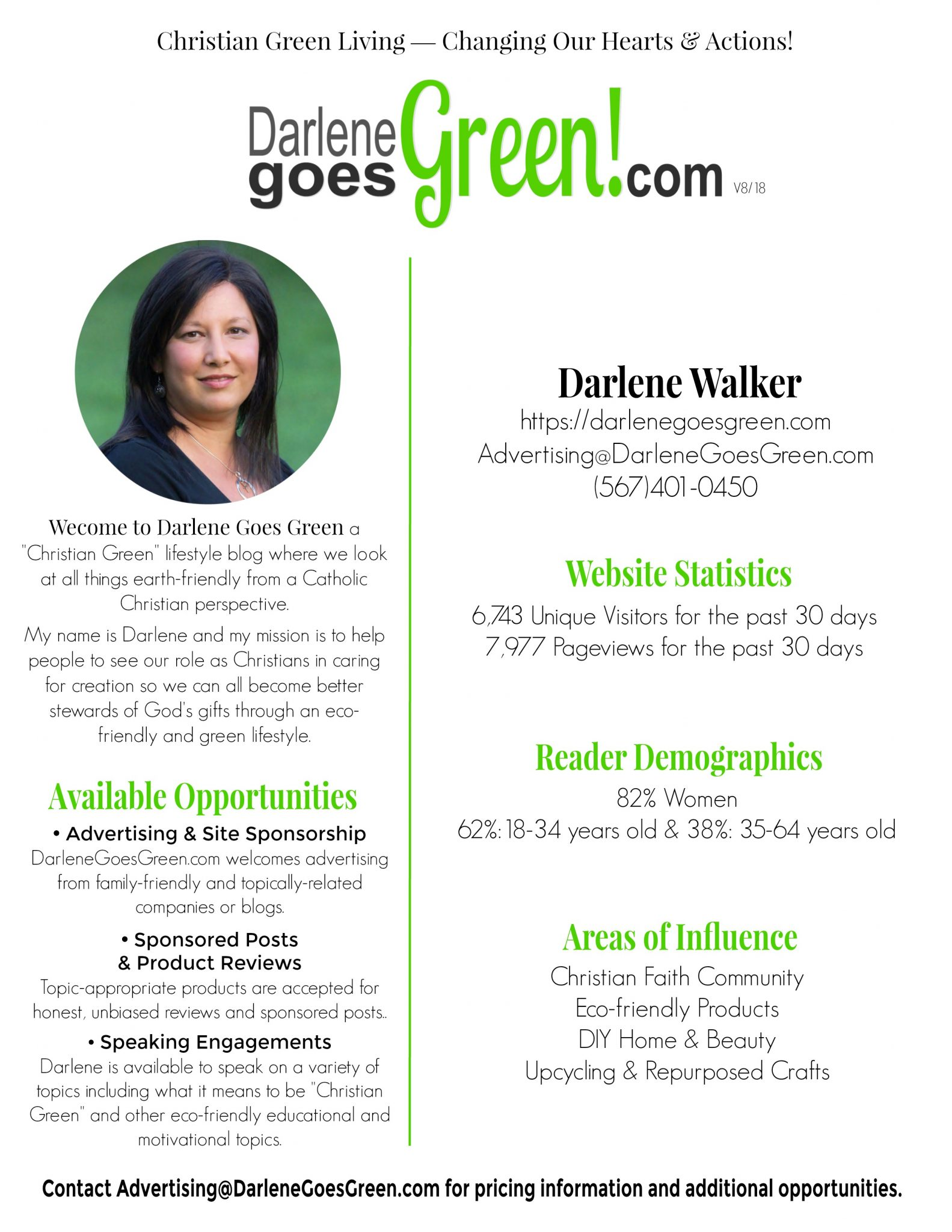 Advertise with Darlene Goes Green