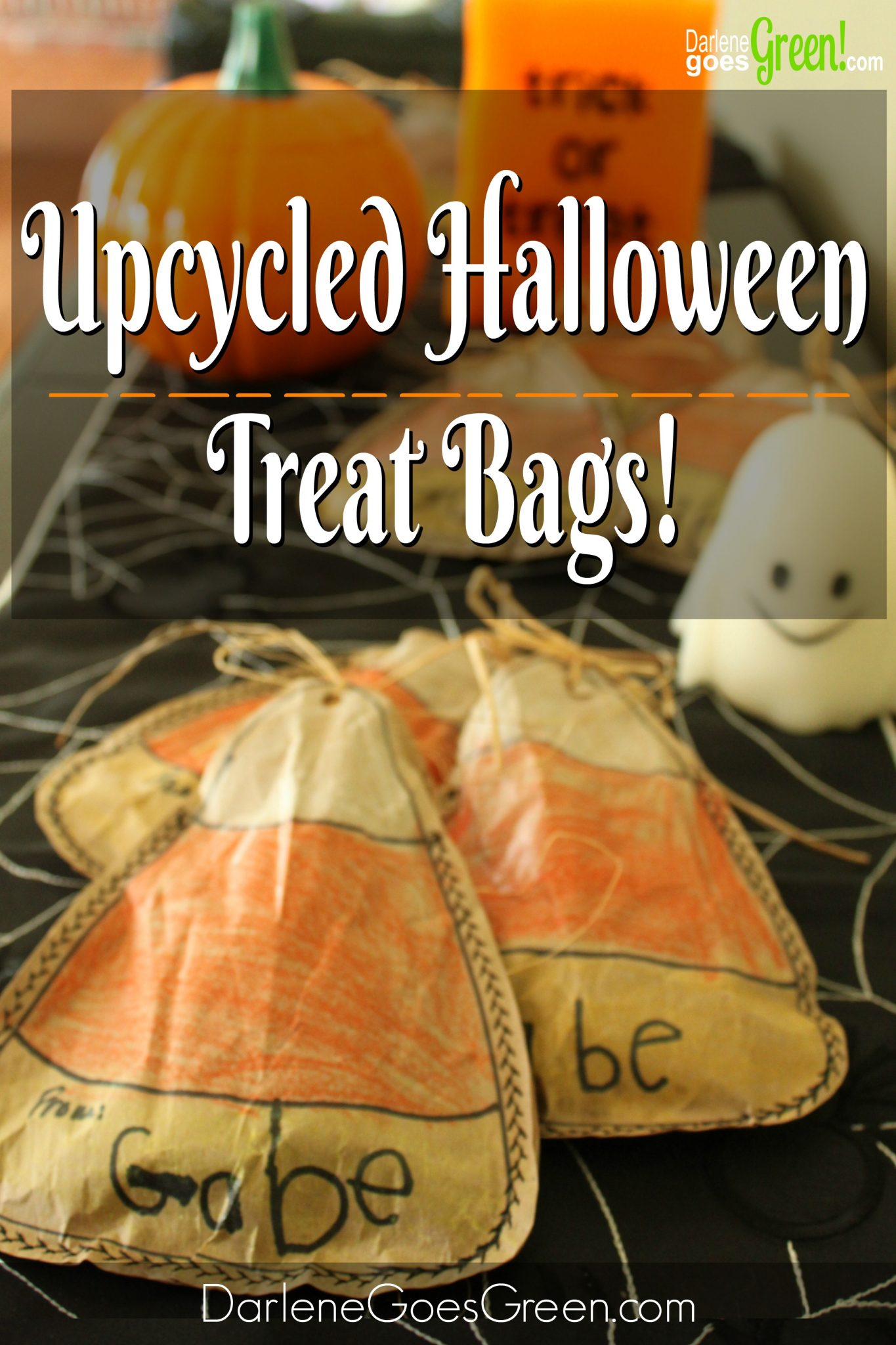 DIY Upcycled Treat Bags from Packing Paper