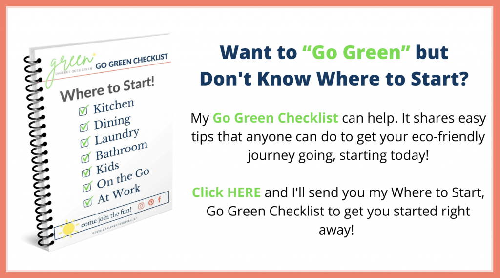 Go Green Checklist - DarleneGoesGreen.com